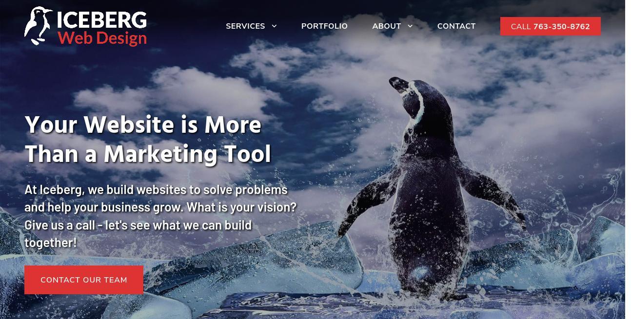 Iceberg Web Design website