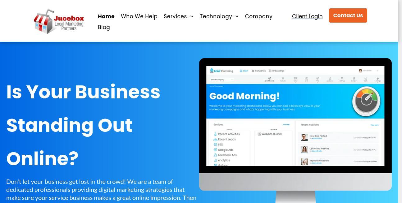Jucebox Local Marketing Partners website