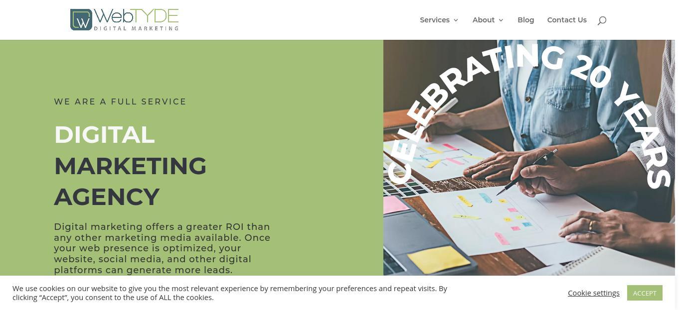 Webtyde Digital Marketing website