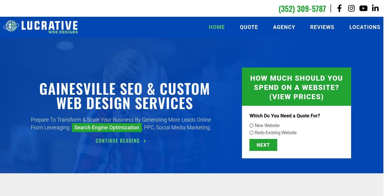 Lucrative Web Designs website