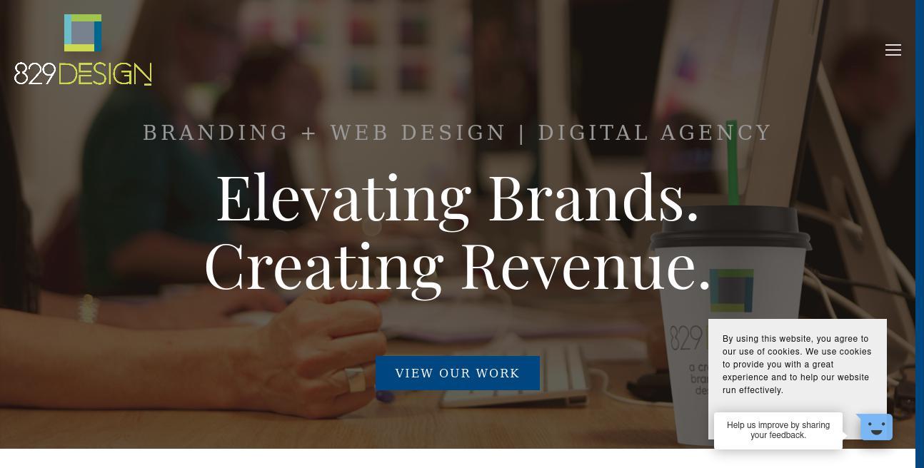 829 Design website