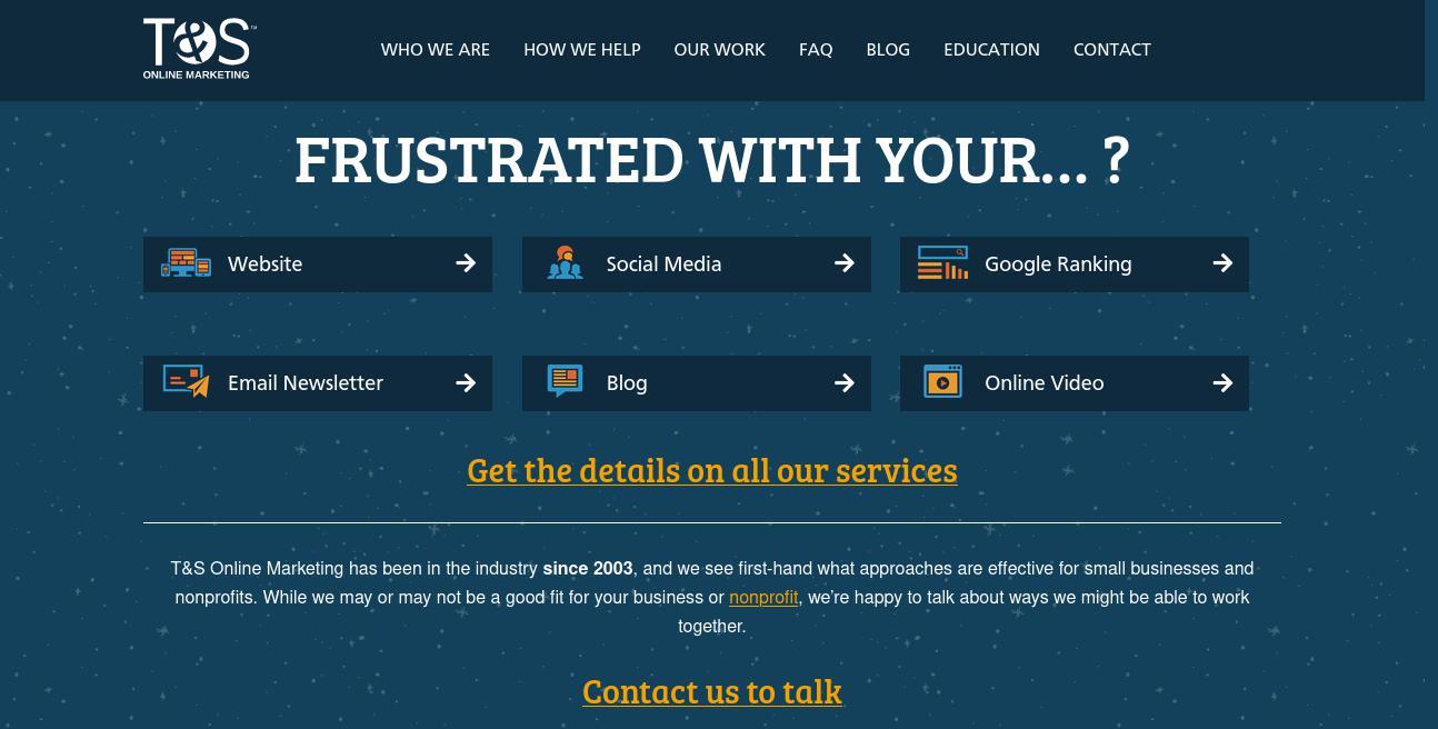 T&S Online Marketing website