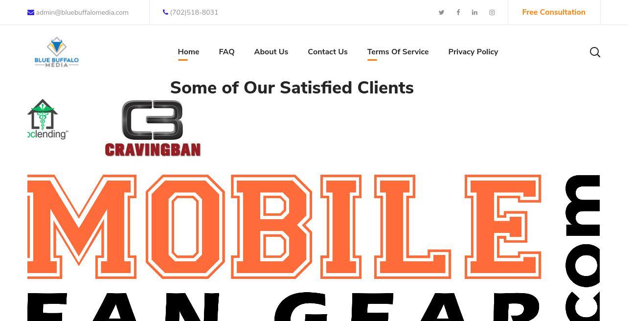 Blue Buffalo Media website