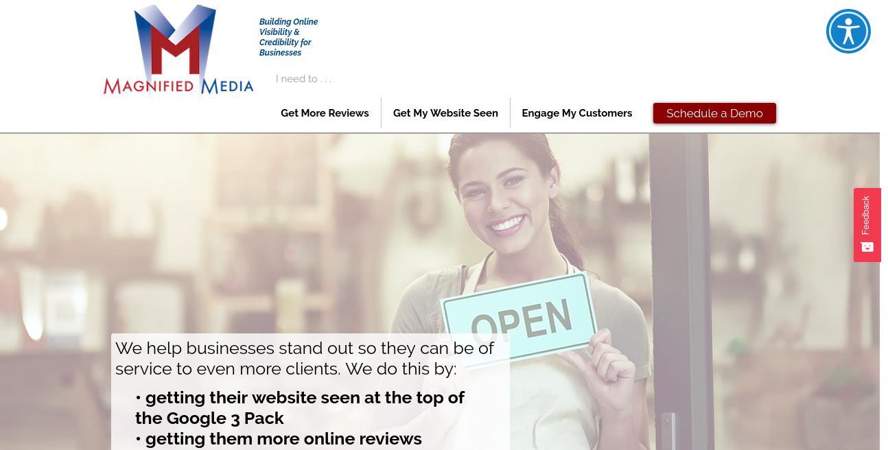 Magnified Media website