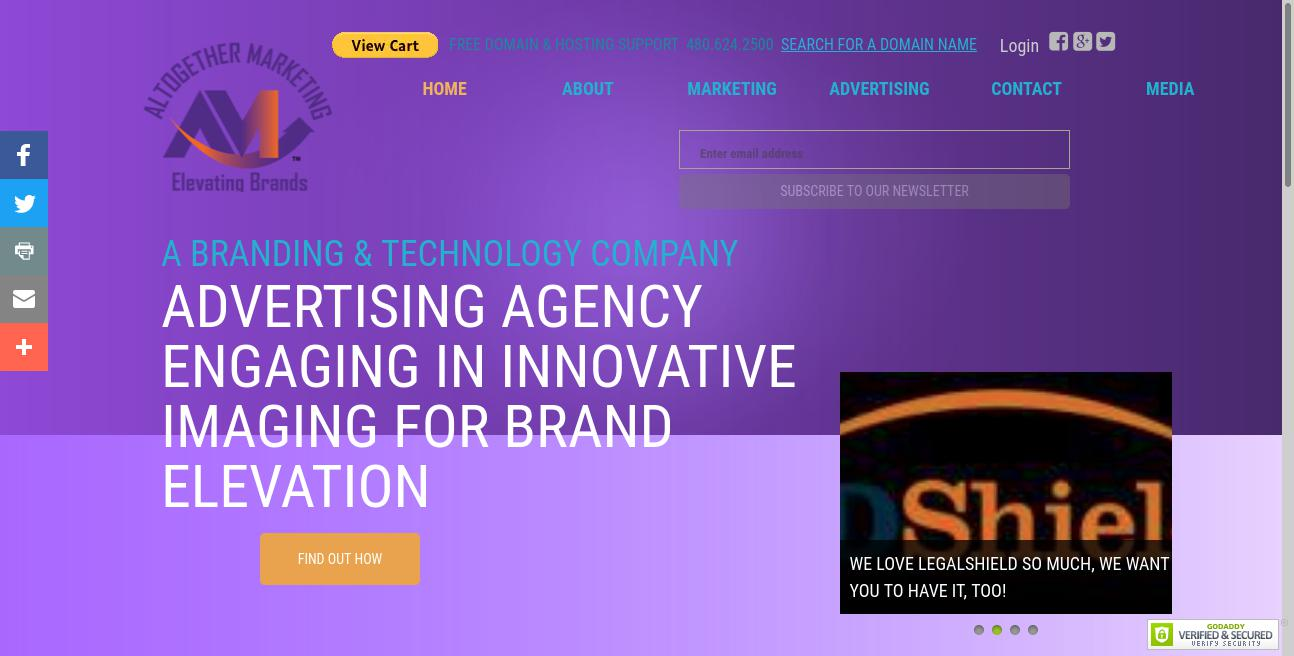 Altogether Marketing website