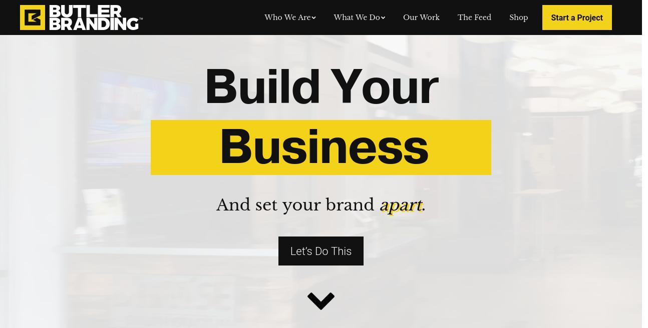 Butler Branding website