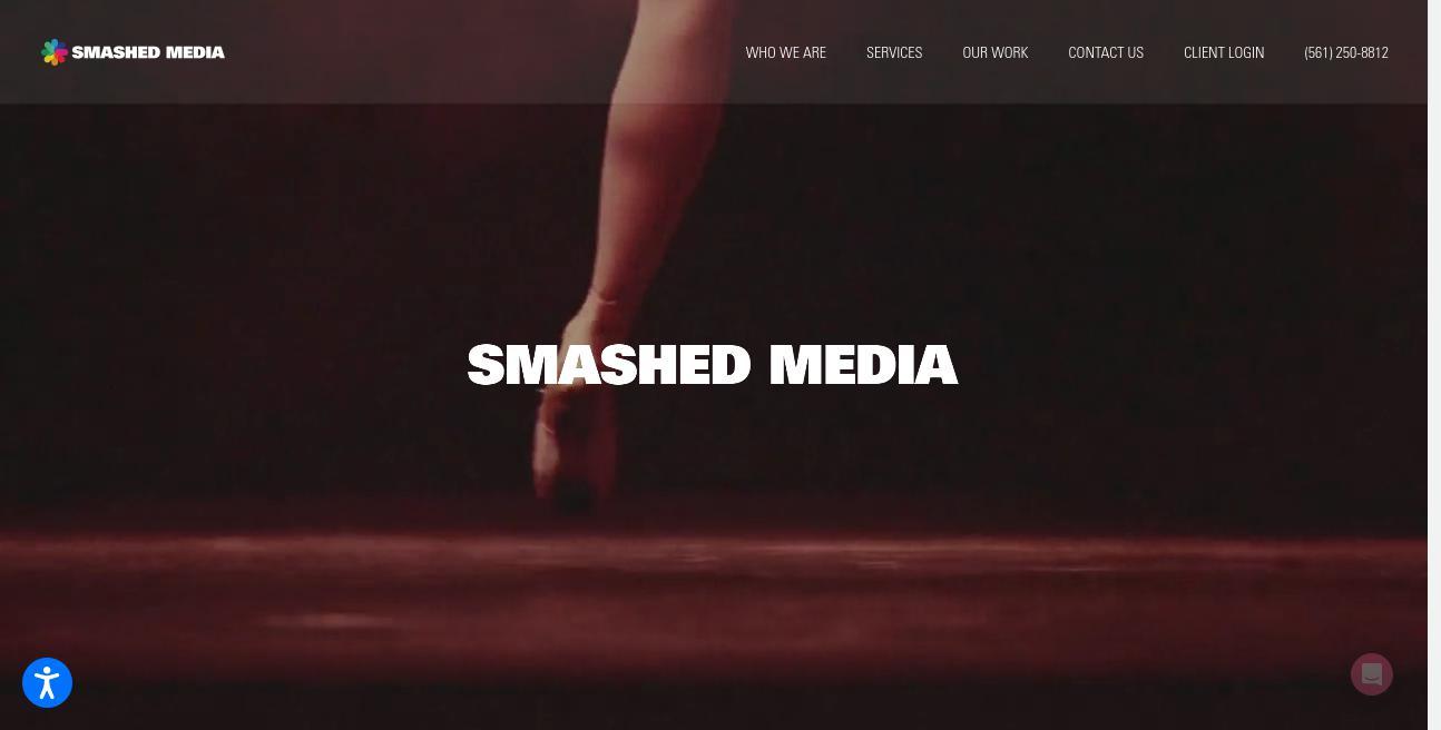 Smashed Media website