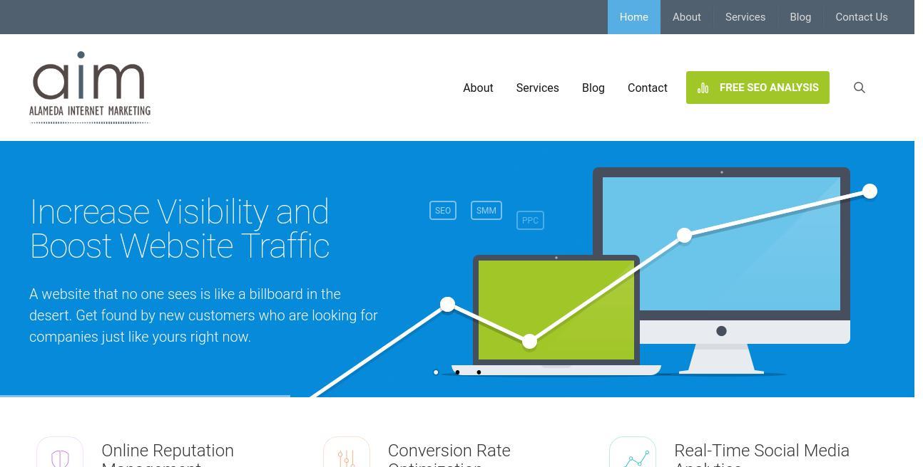 Alameda Internet Marketing website