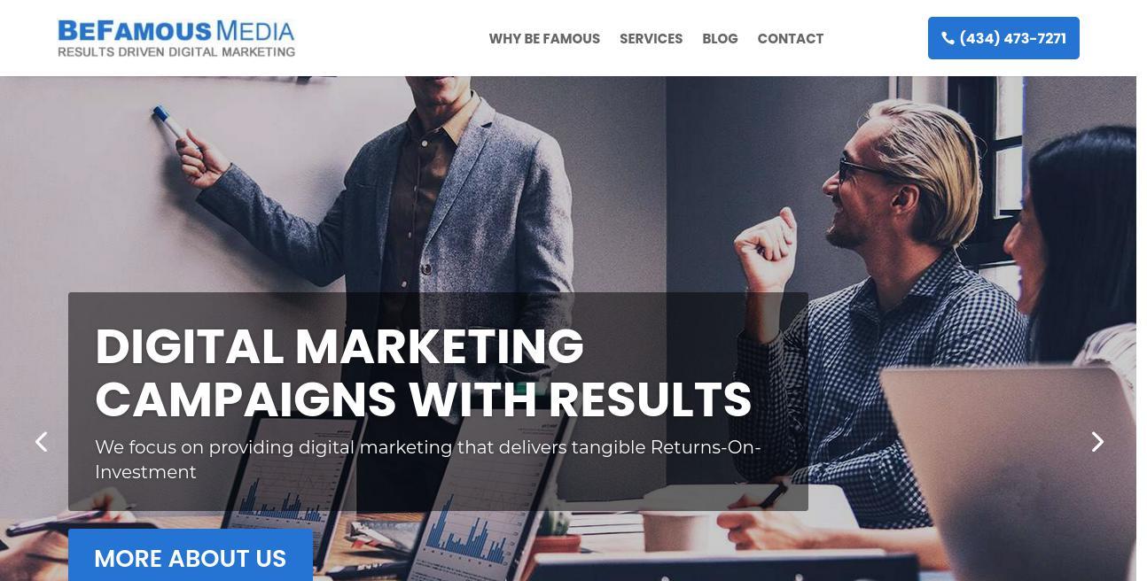Be Famous Media website