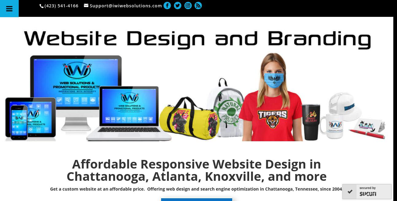 iwi Web Solutions & Promotional Products website