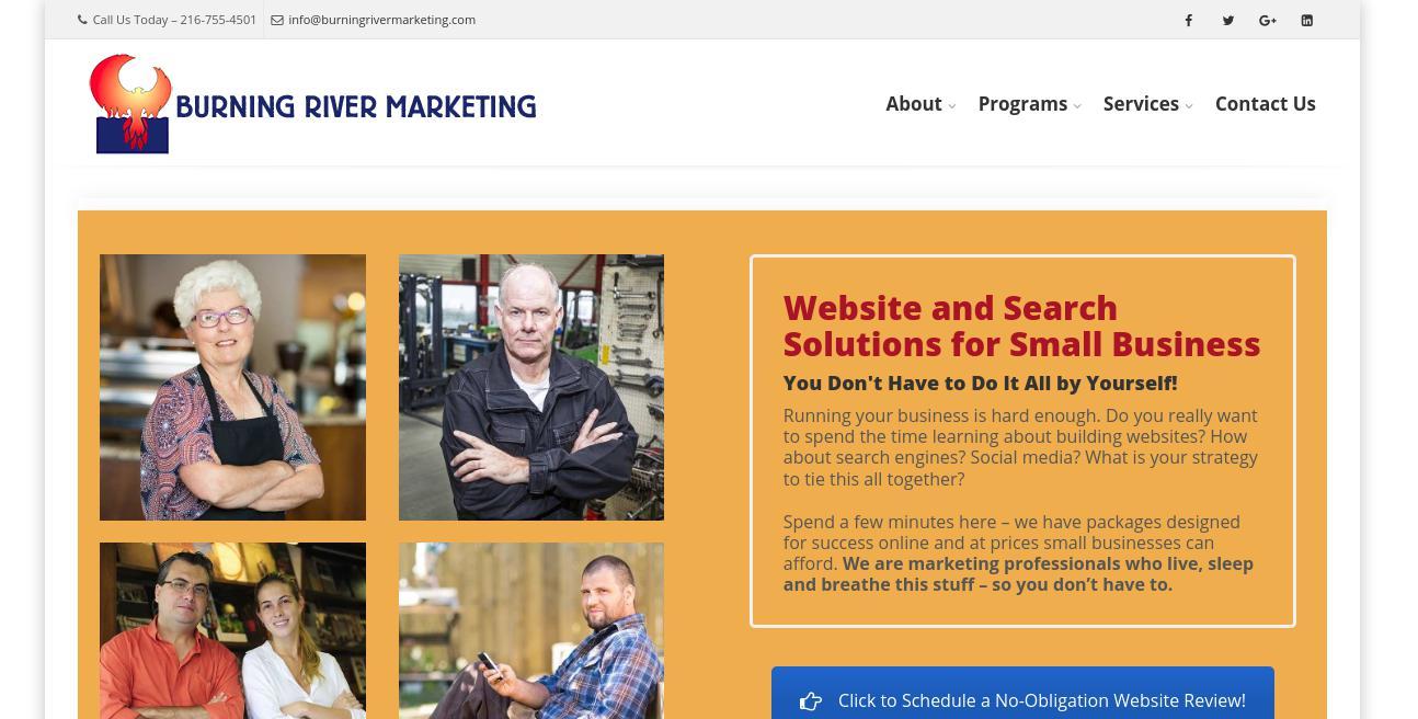 Burning River Marketing website
