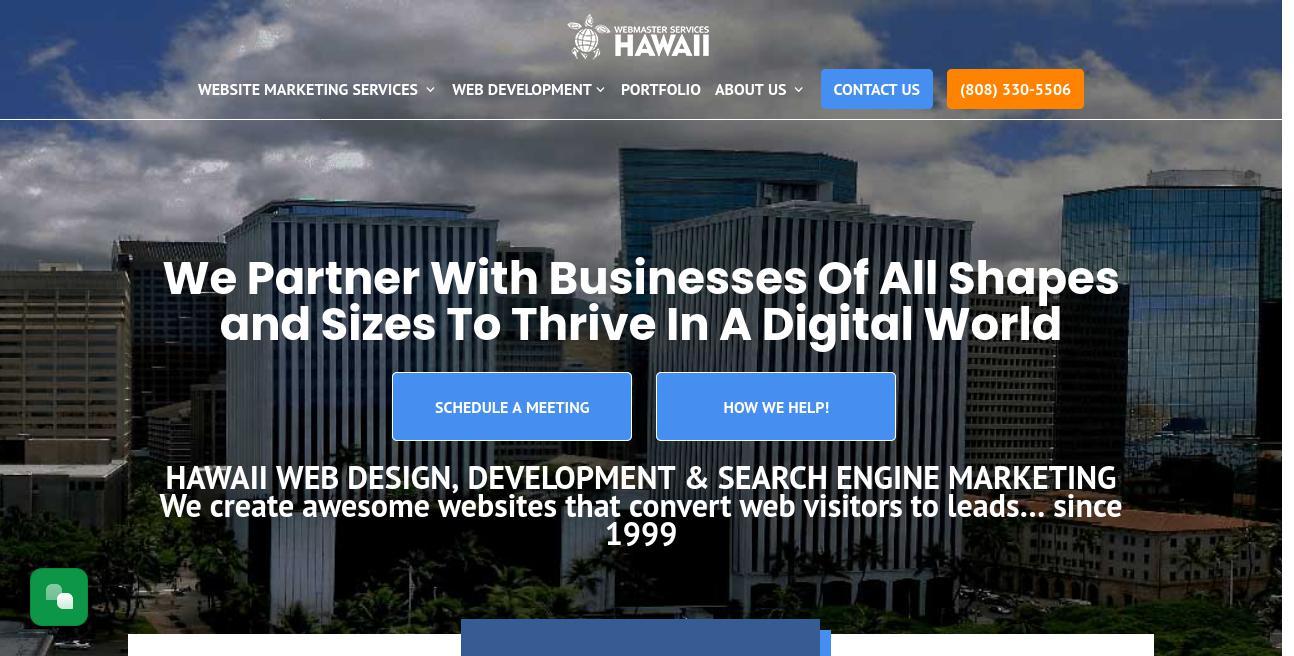 Webmaster Services Hawaii website
