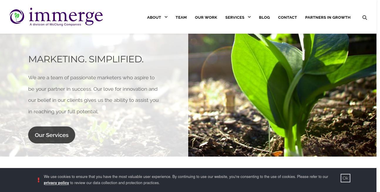 Immerge website