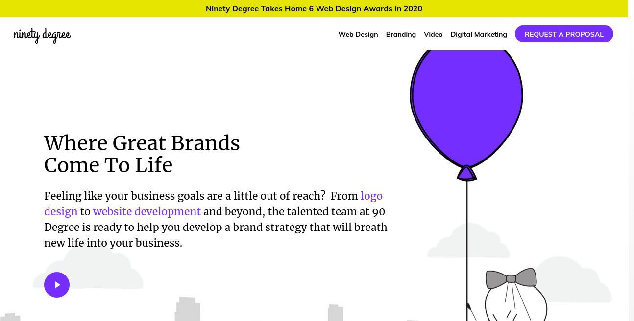 90 Degree Design website
