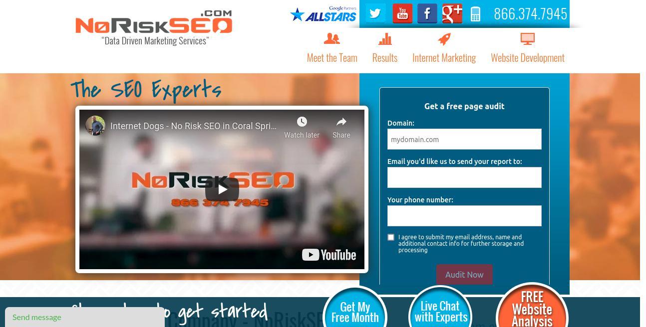 No Risk SEO website
