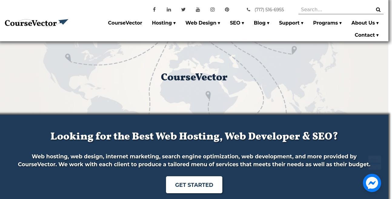 CourseVector website