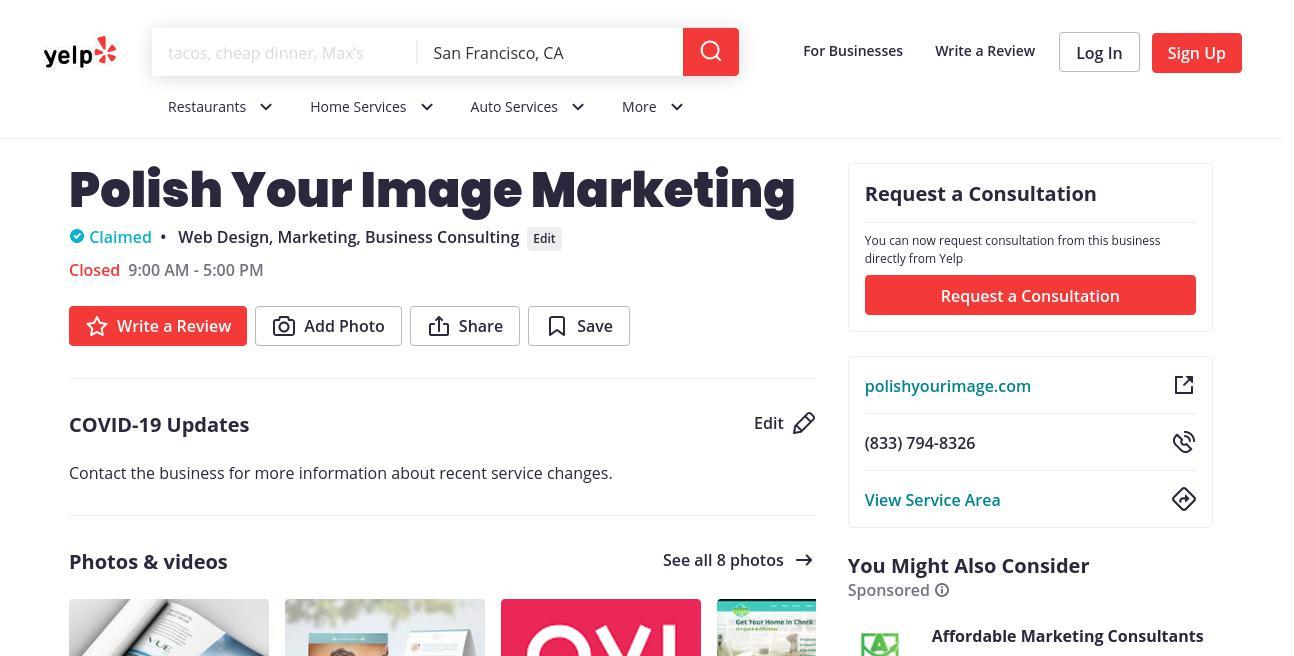 yelp Polish Your Image Marketing yelp