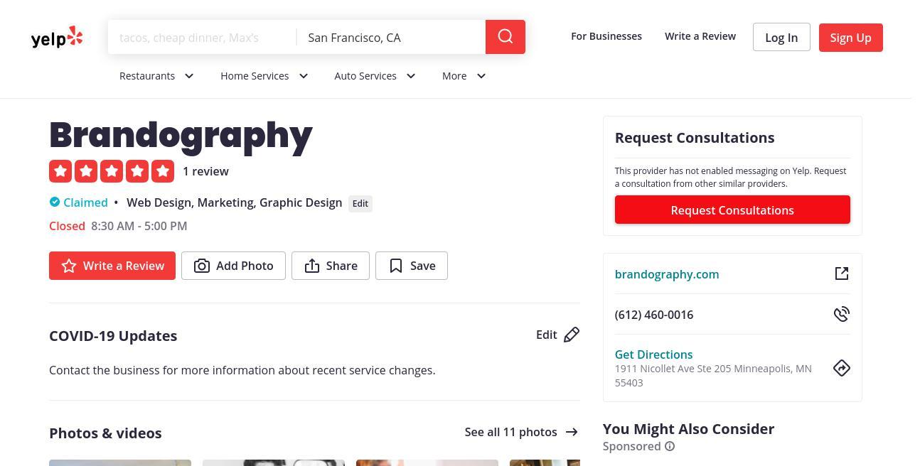 yelp Brandography yelp