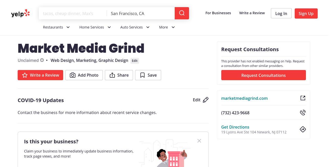 yelp Market Media Grind yelp