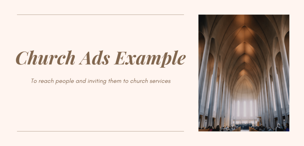 Banner for Church Ads Examples