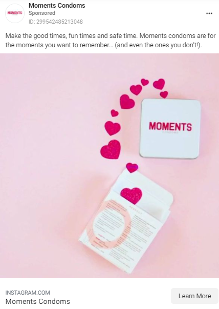Best Facebook Condom Ads Example.