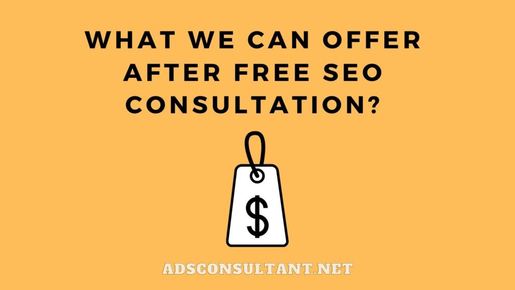 What we can offer after Free SEO Consultation?