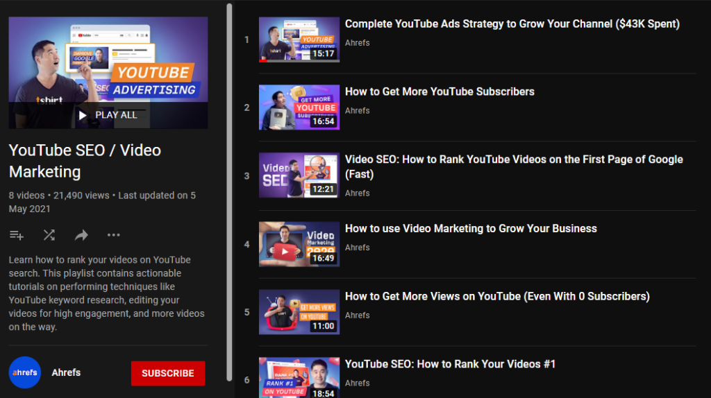 YouTube SEO Services playlists for ranking